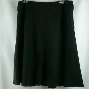 J Jill 18W Plus Size 100% Linen Black Swing Skirt